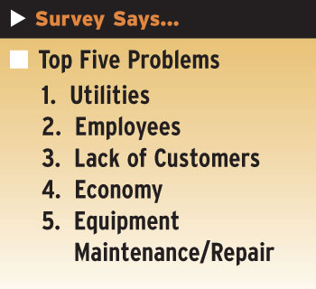 top five problems graphic
