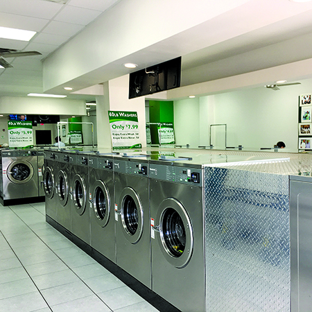 BetterClean's T-formation lineup of 41 front-load washers